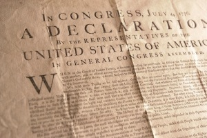Declaration of Independence Copy Up for Sale