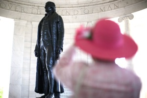Thomas Jefferson's 269th Birthday Observed At Jefferson Memorial